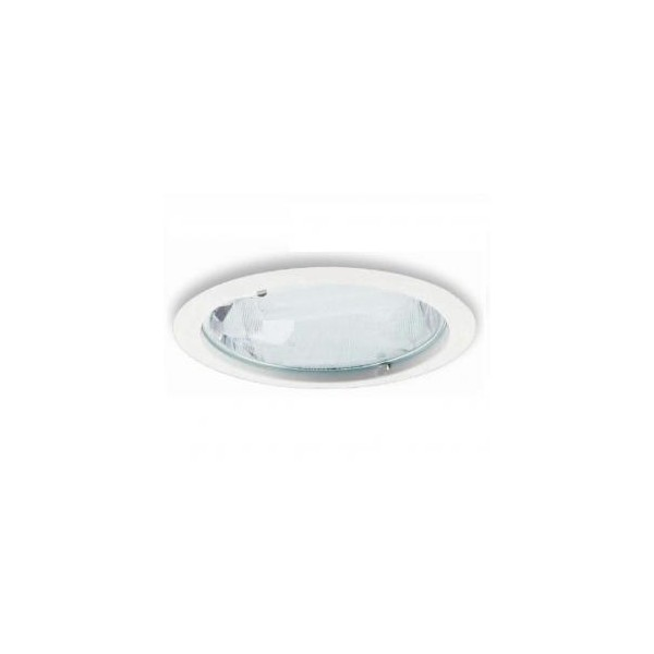 DOWNLIGHT 2X26W CR. MATE CRISTAL TRANSP.