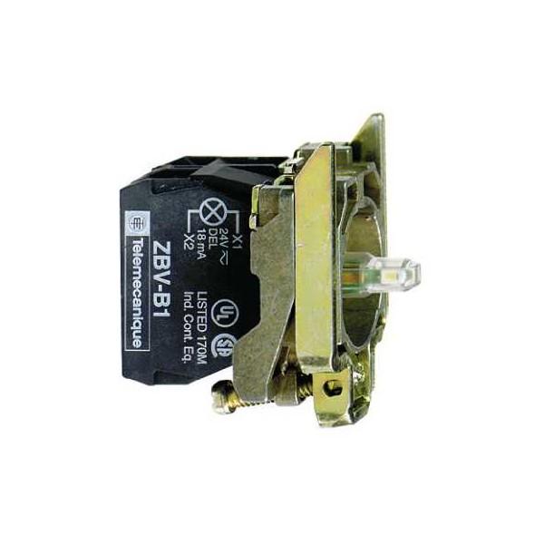 CPO.d.22 24V 1NA-1NC C/LED RJ.TORN.E.MET
