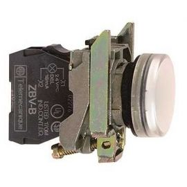 PILOTO C/LED d.22 230-240V BLANCO E.MET.
