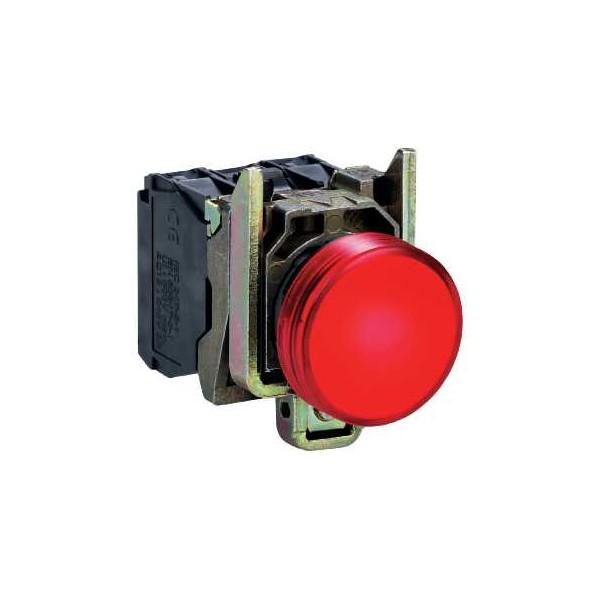 PILOTO C/LED d.22 24V ROJO E.MET.