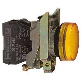 PILOTO C/LED d.22 24V AMARILLO E.MET.