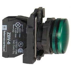 PILOTO C/LED d.22 24V VD.E.PLAST.