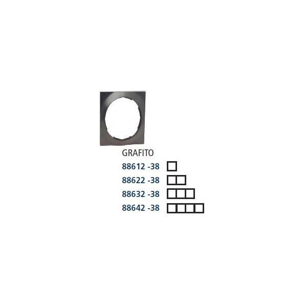 PLACA 1 ELEMENTO 85x85mm SERIE 88 GRAFITO