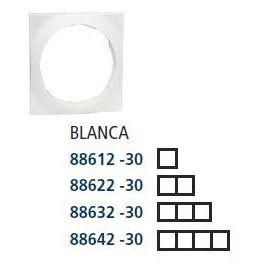 PLACA 4 ELEMENTOS 85x298mm SERIE 88 BLANCO NIEVE