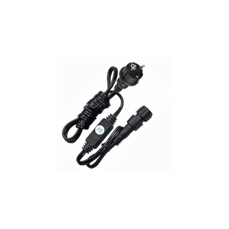 CABLE ALIMENTACION STRING PLUS LED NEGRO