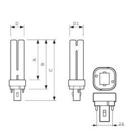 Bombillas y tubos convencionales PHILIPS Lámpara bajo consumo MASTER PL-C 4 P 13W/83