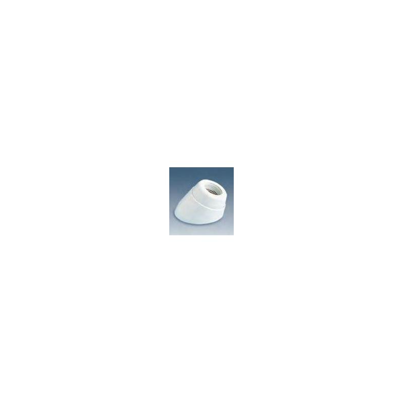 SIMON SIMON Portalámparas zócalo inclinado blanco baquelita E-27