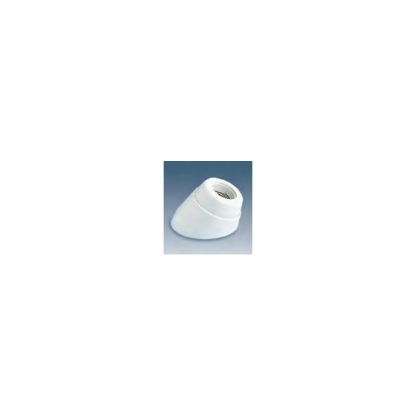 Portalámparas zócalo inclinado blanco baquelita E-27