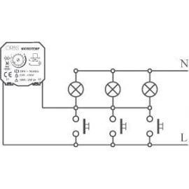 Automáticos de escalera ORBIS 200004 MINUTERO AUTOMAT.ESCALERA MICROTEMP 230V