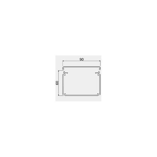 LFC6009009010 HAGER CANAL LF CLIMA 60X90MM RAL9010