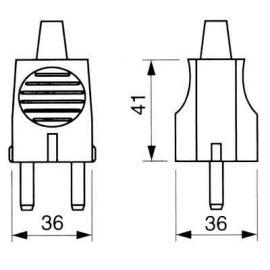 Tomas de corriente y Clavijas SOLERA Clavija de enchufe 2P+T 16A PVC goma blanco
