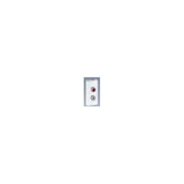 PLACA K45 P/2 CONECTORES RCA BL.NV
