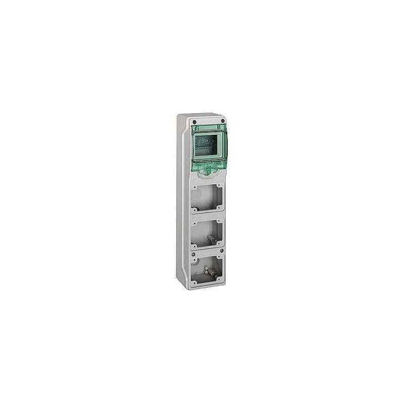 Minicofrets Kaedra tomas industriales 4 módulos 3 huecos
