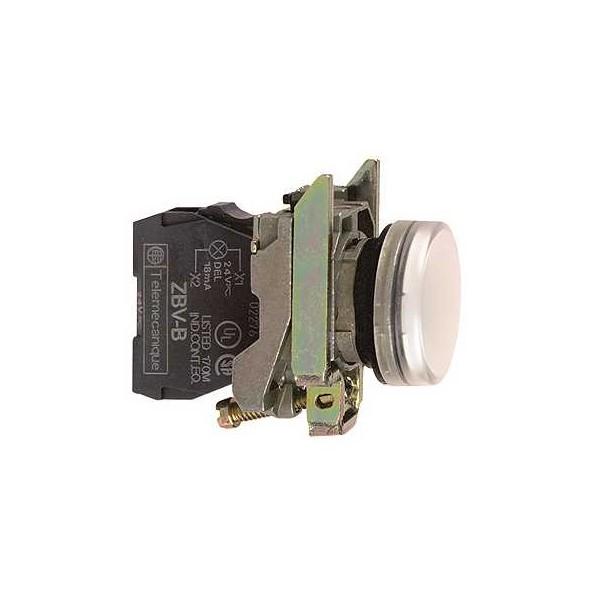 PILOTO C/LED d.22 110-120V BLANCO E.MET.