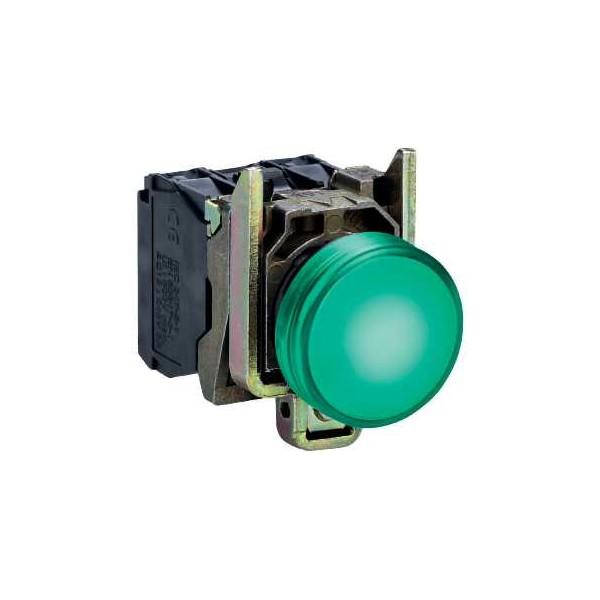 PILOTO C/LED d.22 24V VERDE E.MET.