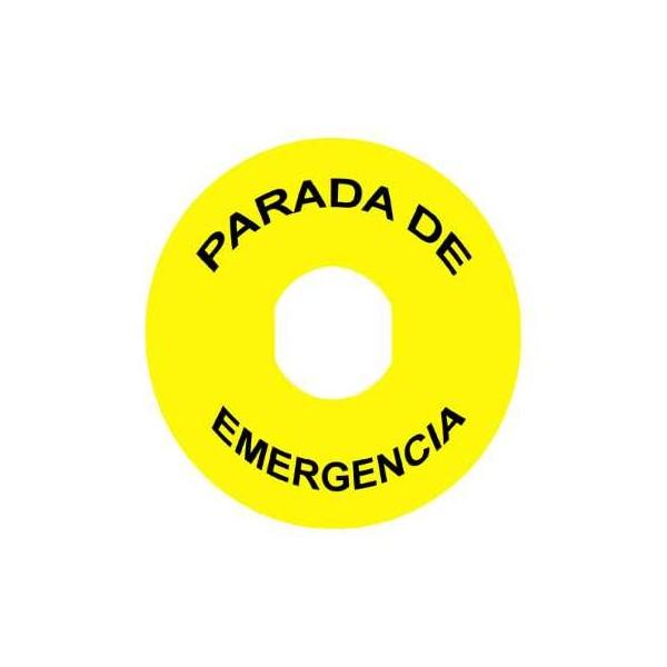 ETIQ.CRIC.PULS.SETA P.EMERGENCIA 90mm