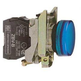 PILOTO C/LED d.22 230-240V AZUL E.MET.