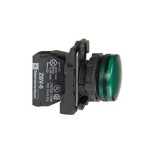 PILOTO C/LED d.22 230-240V VD.E.PLAST.