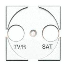 Tapa TV/R-SAT blanco Bticino Livinglight N4212