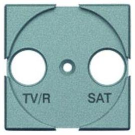 Tapa TV-SAT aluminio Bticino Livinglight NT4212