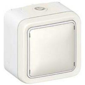 Conmutador monobloc blanco Legrand Plexo 069751