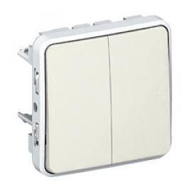 Conmutador doble componible blanco Legrand Plexo 069625