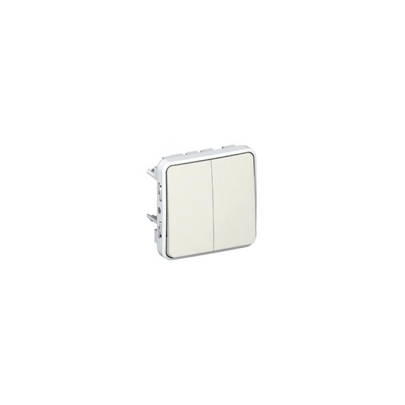 Interruptores y Enchufes por marca LEGRAND Interruptor-conmutador doble componible blanco Legrand Plexo 069625