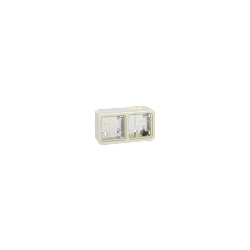 Interruptores y Enchufes por marca LEGRAND Caja superficie 2 elemento blanca Legrand Plexo 069690