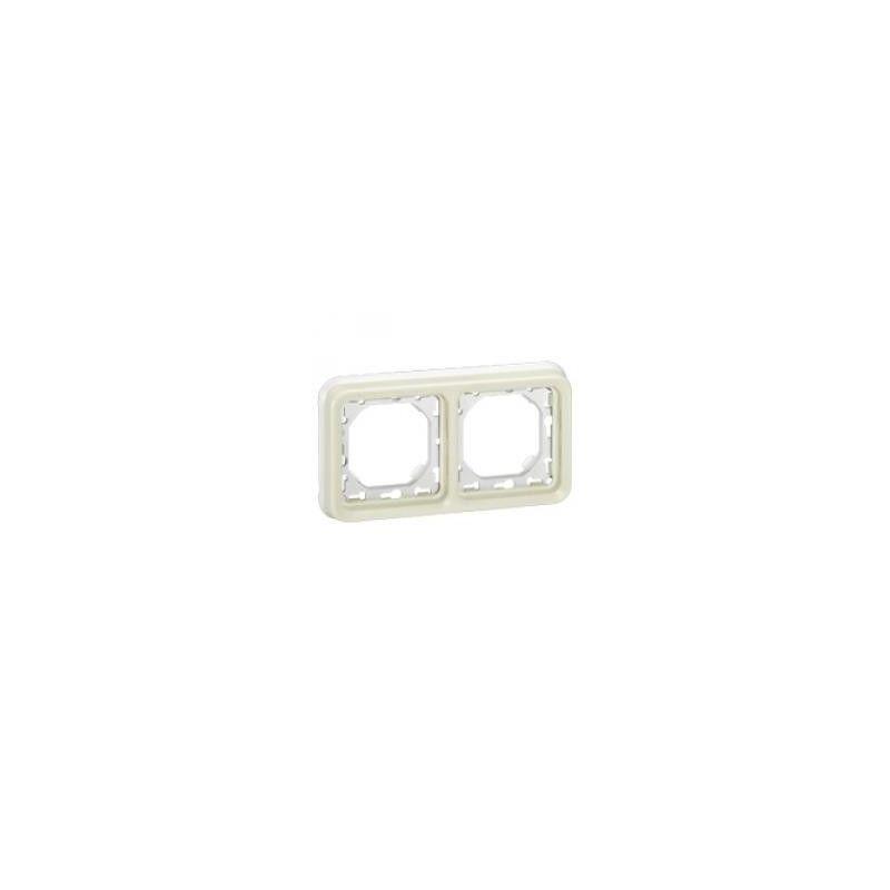 Interruptores y Enchufes por marca LEGRAND Marco 2 elementos blanco Legrand Plexo 069694