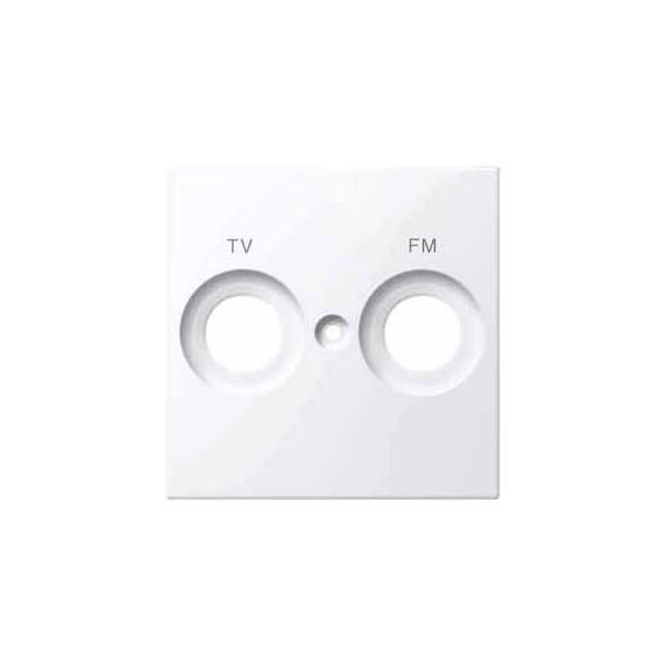 TAPA TOMA FM/TV BLANCO ACTIVO ELEGANCE