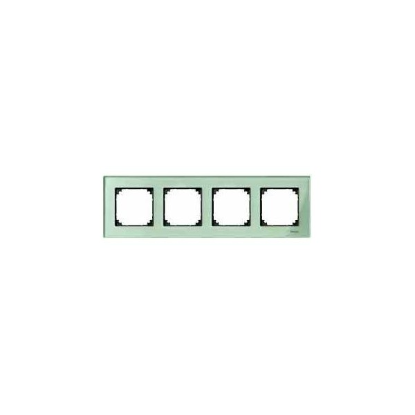 Marco Elegance 4 elementos verde cristalino MTN404404