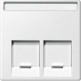 TAPA RJ45 DOBLE ELEGANCE/AQUADESIGN BLANCO
