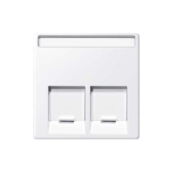 Tapa RJ45 doble Elegance blanco activo Elegance MTN469925