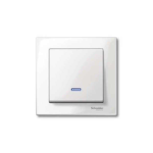 Tecla interruptor con luminoso blanco marfil Elegance MTN436019