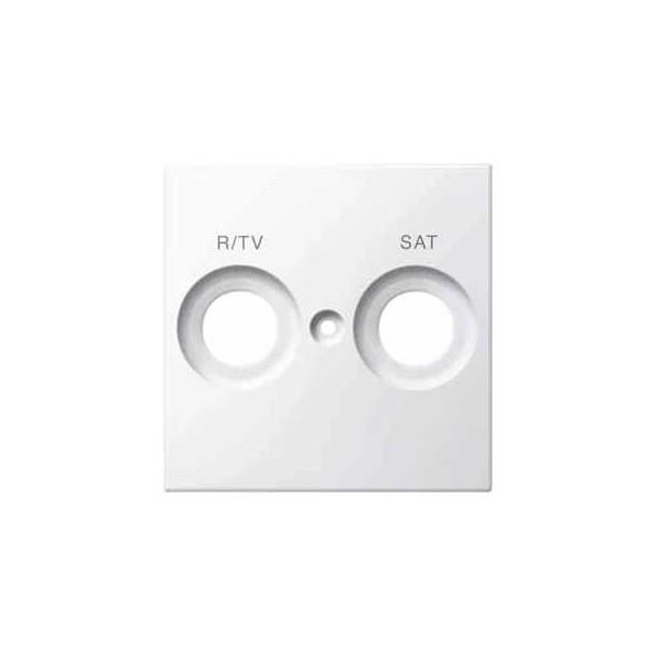 TAPA TOMA R-TV/SAT BLANCO ELEGANCE