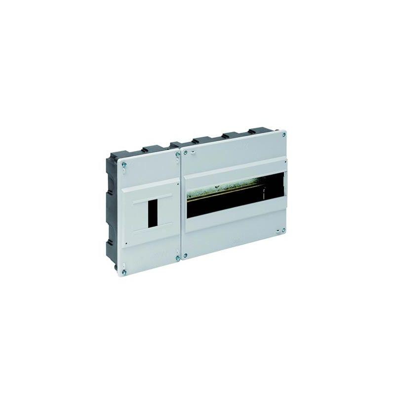 Cuadro de automáticos 12 elementos + ICP empotrar gris Solera