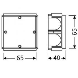 SOLERA SOLERA Caja universal de empotrar mecanismos enlazable Solera