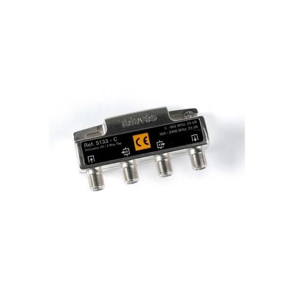 DERIVADOR 2D TIPO C CON CONECTORES F