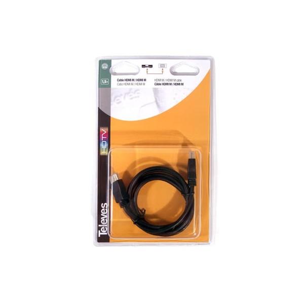 CABLE HDMI M-M 1,5 MTS A/V- (BLISTER)