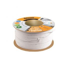 Cable coaxial blanco T100 plus rollo 100 metros Televes