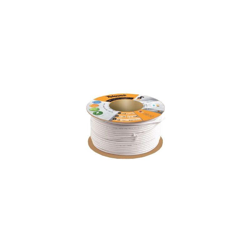 Cable coaxial blanco T100 plus rollo 100 metros Te