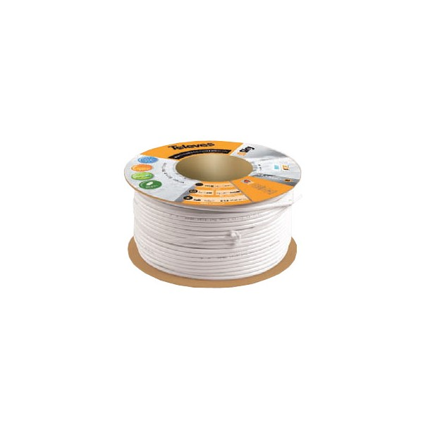 Cable coaxial blanco T100 plus rollo 100 metros Te