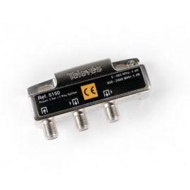 Repartidor 2 salidas conector F 5150 Televes