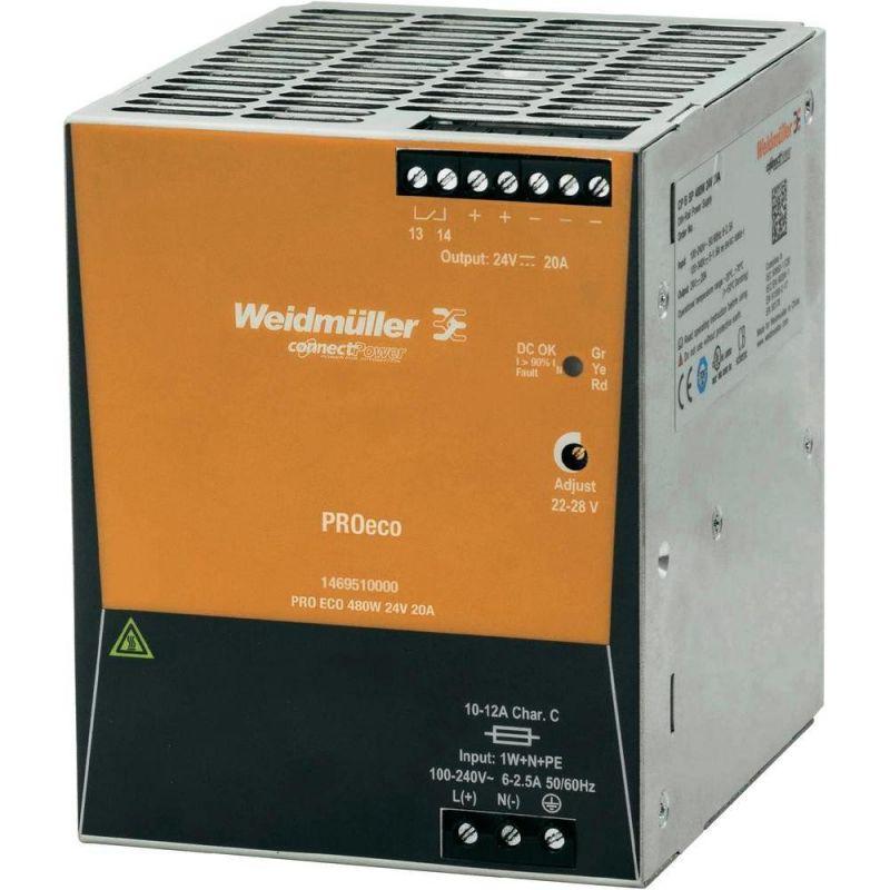 Fuentes de alimentación WEIDMÜLLER Fuente alimentación PRO ECO 480W 24V DC Weidmuller