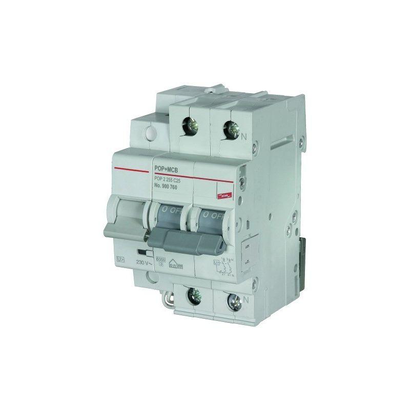 Protección sobretensión 1 P+N 32A combinado SPD+POP+MCB