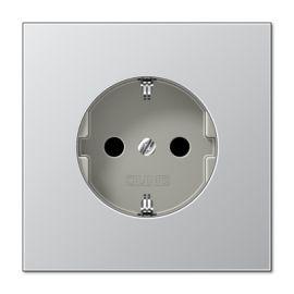 Tapa enchufe schuko aluminio Jung AL1520KIPL