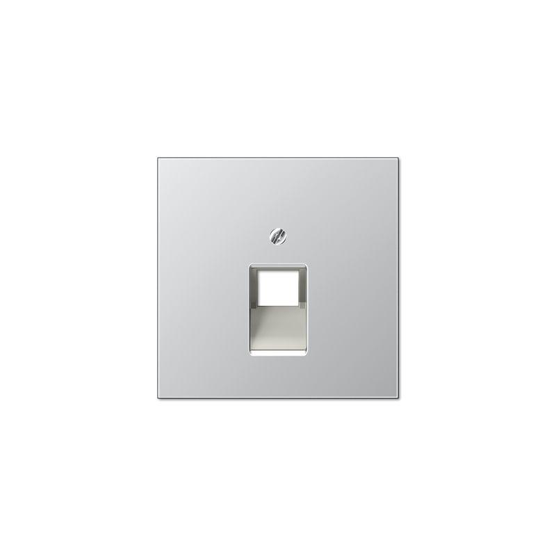 Interruptores y Enchufes por marca JUNG Tapa toma telefónica aluminio Jung serie LS990  AL2969-1UA
