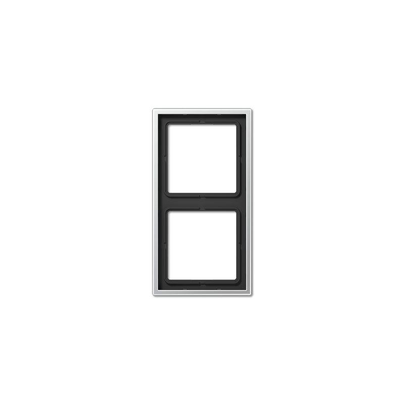 Interruptores y Enchufes por marca JUNG Marco 2 elementos aluminio Jung AL2982