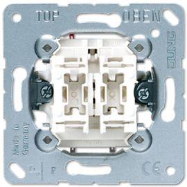 Doble interruptor 10A 505U serie LS990 de Jung