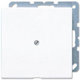 Placa salida cable con soporte blanco Jung LS990AWW